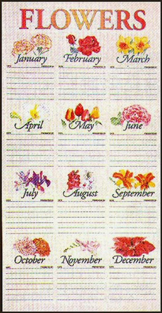 2014 Church Flower Calendar First Baptist Church Of Labelle
